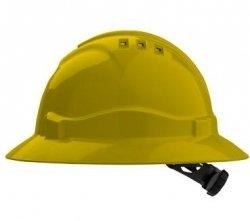 Pro Choice V6 Full Brim Hard Hat - Yellow