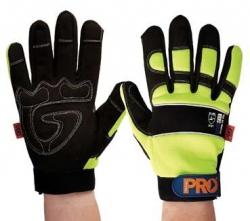 Pro-Fit Full Finger Glove Hi Vis