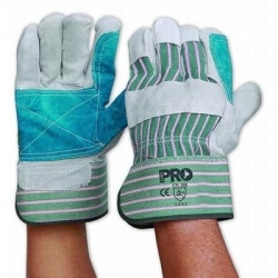 Green & Grey Stripe Glove