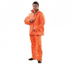 Orange PVC Hi Vis Rain Suit