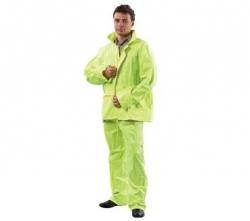 Yellow PVC Hi Vis Rain Suit