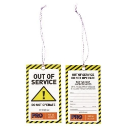 Safety Tags - Yellow Out of Service