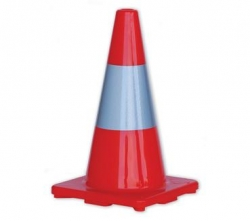 Orange Hi-Vis Traffic Cone With Reflective Band 450mm