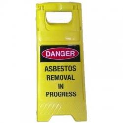 Danger Asbestos Removal In Progress A Frame