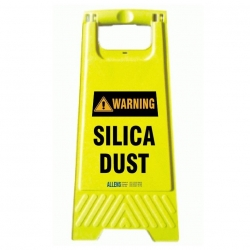 Warning Silica Dust A Frame
