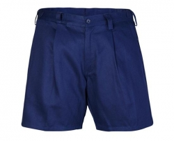 Ritemate RM1002S navy belt loop & sided tab combo short