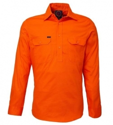 Long Sleeve Standard Weight Closed Front Drill Shirt