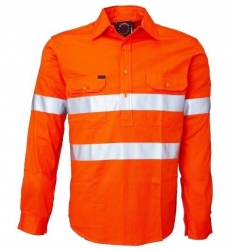 Ritemate RM104CFR closed front long sleeve reflective shirt