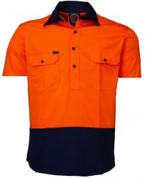 RITEMATE RM105CFS - Short Sleeve Standard Weight C/F Drill Shirt