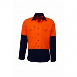 Ritemate RM107V2 Vented 2 tone open front long sleeve shirt