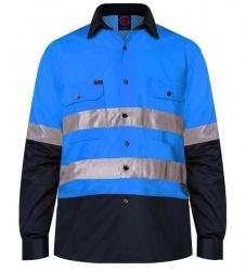 RITEMATE RM107V2R - Long Sleeve Light Weight Vented Drill Shirt