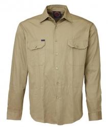 Long Sleeve Light Weight Vented Drill Shirt