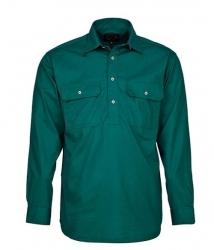 Ritemate RM200CF Pilbara Closed Front Long Sleeve Shirt