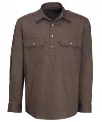 Long Sleeve Standard Weight Closed Front Pilbara Shirt
