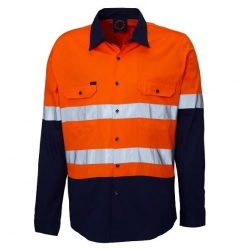 RITEMATE RM208V2R - Long Sleeve Light Weight Vented Drill Shirt