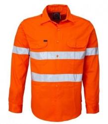 RITEMATE RM208V3R - Long Sleeve Light Weight Vented Drill Shirt