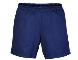 Elastic waist long leg cotton drill shorts
