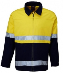 Ritemate RM5071R  2 Tone Drill jacket with reflective tape