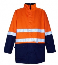 Ritemate RM73N1R 4 in 1 two tone  drill jacket with reflective tape
