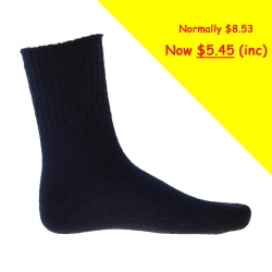 S122 Acrylic 3 Pack Socks (size 6-11)