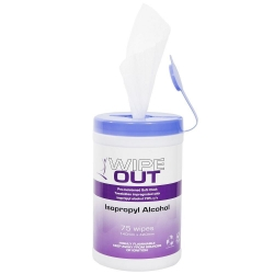 Wipeout Alcohol Wipes 75 Wipes