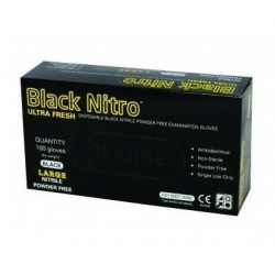 ULTRA FRESH 100pack Black Nitrile Glove