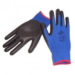 Stealth Blue Heeler Glove PU Palm - Click for more info