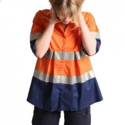 Long Sleeve Light Weight Drill Maternity Shirt