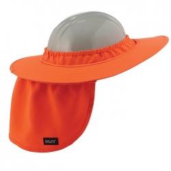 Plastic Hard Hat Brim Orange