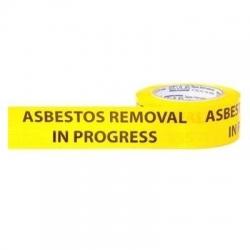 Asbestos Removal In Progress PVC Tape