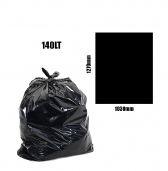 Heavy Duty 140lt Black Bin Liners 200pk