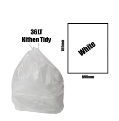 Kitchen Tidy Liners 36lt White Carton 1000pk