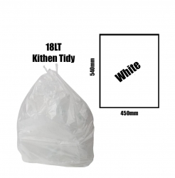Kitchen Tidy Liners 18lt White Carton 1000pk