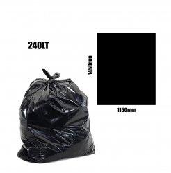 Black Bin Liners 240lt 200pk