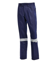 Cargo Trousers Cotton Drill with Reflective Tape