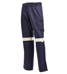 L/WCargo Trouser Drill Reflective Navy