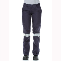 WORKIT 1006T - Standard Weight Cotton Drill Pants with Reflect